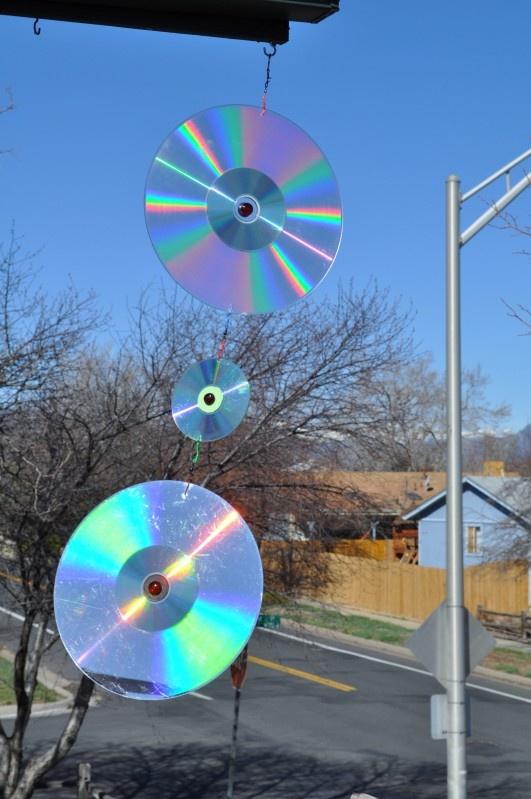 Diy Wind Spinner Laserdisc Dvds Glass Marbles Amazing 400 x 300