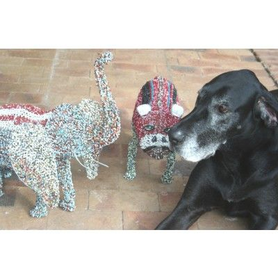 Animal Set of Wire Beaded Artwork