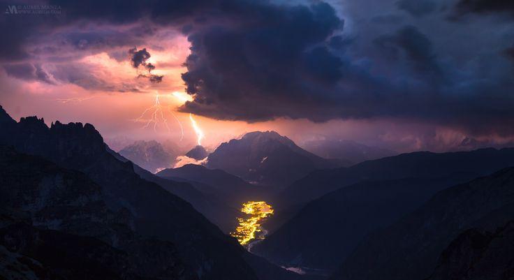 Tesla Mountains - Lightning storm in the Dolomites