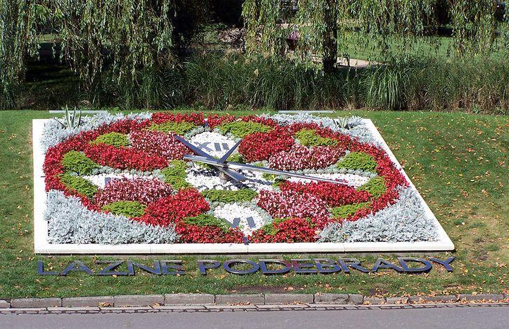 Flower clock, Poděbrady, Czech Republic