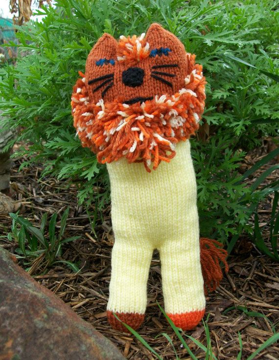 Check out this item in my Etsy shop https://www.etsy.com/au/listing/237114949/hand-knitted-wild-lion