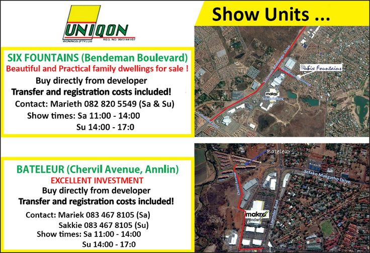Show Units  Contact charl@uniqon.co.za