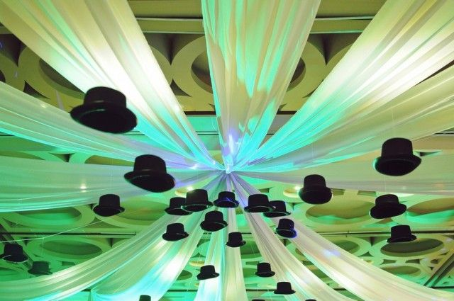 Harvey's Monopoly Themed Party – Ceiling Treatment