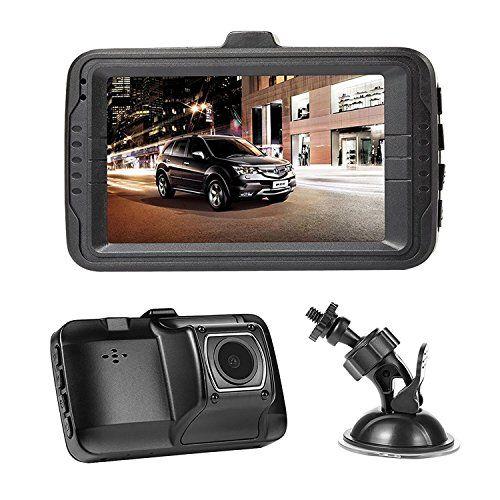 "NEXGADGET Dash Cam 3.0"" Screen FHD 1080P Car dashboard Camera Vehicle On-dash Video Recorder Camcorder Support 24/7 Surveillance G-Sensor Loop Recording Extra USB Port on Car Charger"