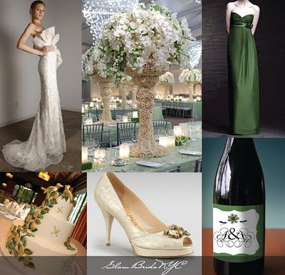 Forest Green and Antique Whites Wedding
