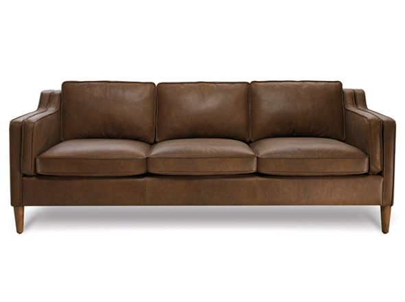 Bay leather republic canape 3 seat sofa oxford tan 1999 for Leather sofa 7 seater