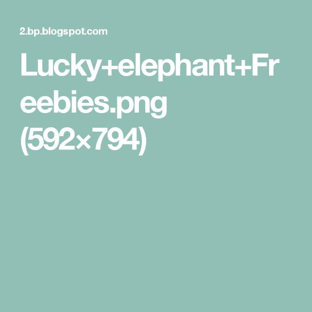 Lucky+elephant+Freebies.png (592×794)