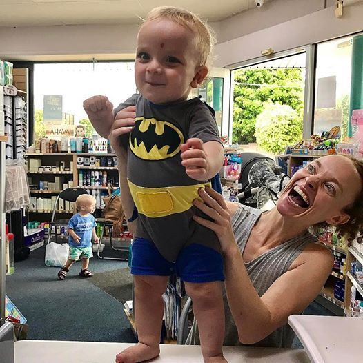 Valentino's 1 & so full of mischief, totally rocking his batman outfit & way too cute. He came to see me for a weigh, measure & chat at my pharmacy job this week. Loved catching up with him &his mumma ❤️❤️ I'm @ Basger's Pharmacy every Wed 10am-1pm for free advice, baby weighing. Location: 1 Mitchell St, North Bondi (cnr of Murriverie Rd). Coffee shop next door & street parking. Check my Facebook page to be sure I'm not away the week you plan to visit .. cute baby batman