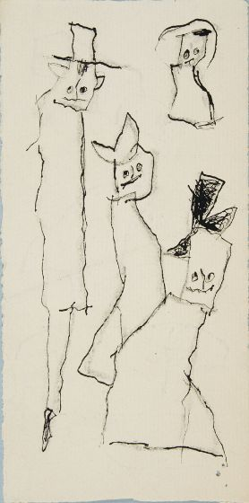 Lyonel Feininger, Untitled [Ghosties], 20th century, Harvard Art Museums/Busch-Reisinger Museum.