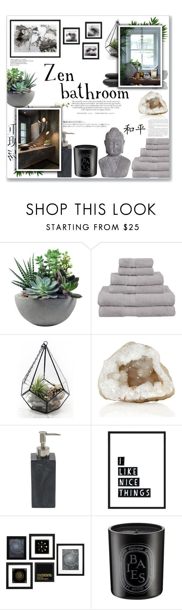 Zen Bathroom By Lauren A J Reid On Polyvore Featuring Interior Interiors