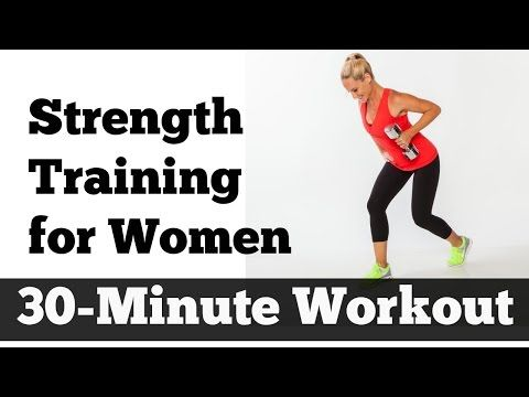 30-Minute Strength Training for Women | Home Workout for All Levels - YouTube Awesome workout! One of my new favorites! #JSTVFIT Love strength training! Used 15lbs and 10lbs...will do 20lbs next time! At least for the first set!