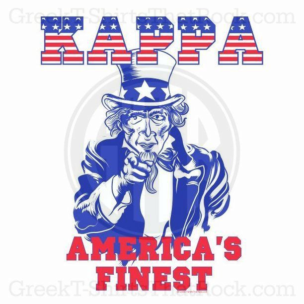 Kappa Kappa Gamma. Mericas Finest! Patriotic! Buy your sorority bid day, recruitment, and fraternity rush shirts with GreekT-ShirtsThatRock today! (800) 644-3066 GTTR