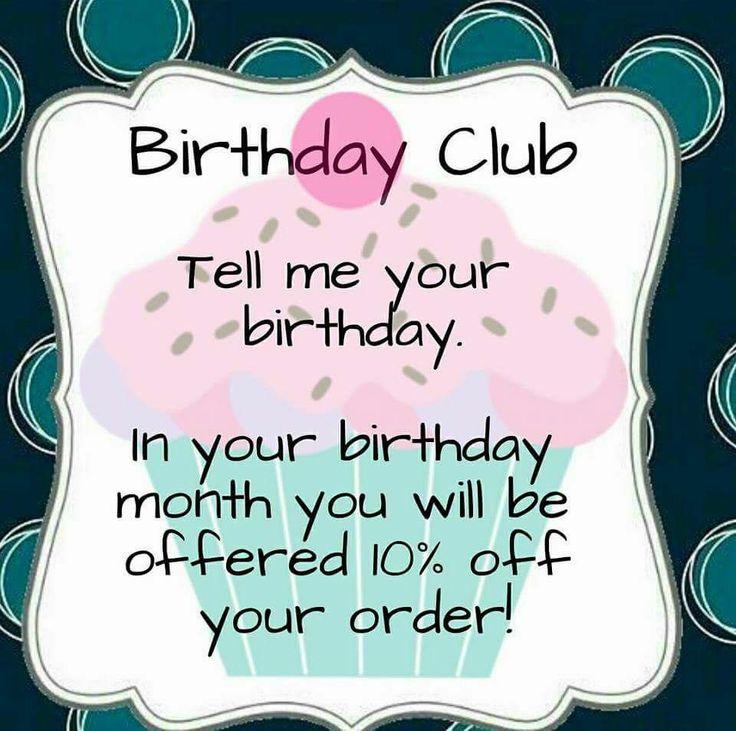 Birthday Club  www.mythirtyone.ca/brittanywright