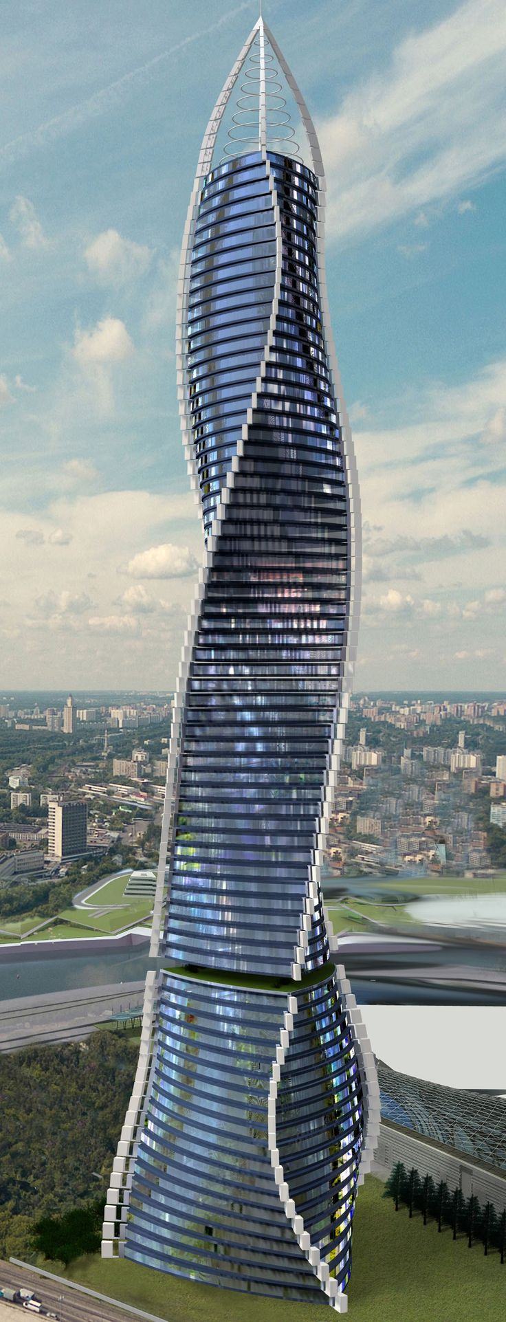 Dynamic Architecture Tower, Dubai, UAE designed by David Fisher of Dynamic Architecture :: 80 floors, hieght 388m :: vision