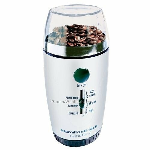 Hamilton Beach Custom Grind Coffee Grinder, Platinum