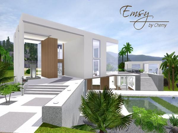 Emsy ultra modern house by Chemy - Sims 3 Downloads CC Caboodle