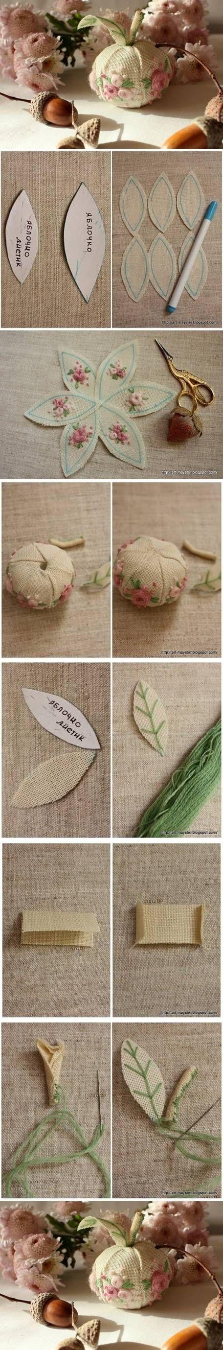 DIY Fabric Apple Decor: