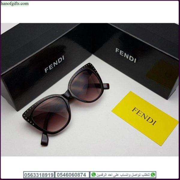 نظارات فندي نسائيه Fendi مع كامل ملحقاتها و بنفس اسم الماركه Oval Sunglass Sunglasses Fendi
