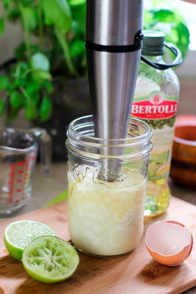 How to Make Homemade Mayonnaise in a Jar using a Hand Blender