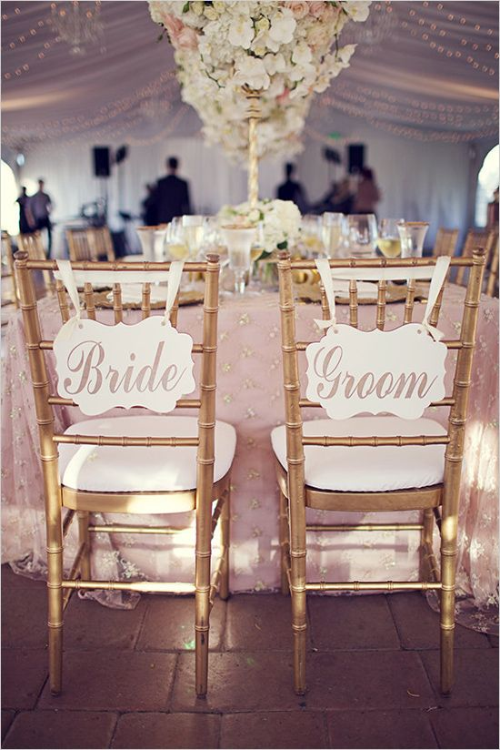Bride And Groom Wedding Table Ideas head table chair back wedding decorations Find This Pin And More On Couples Table Flawless Floral Wedding At The Viansa Winery Bride And Groom