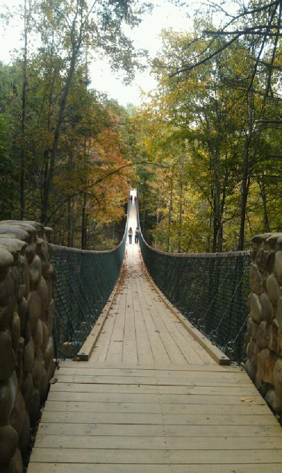 Walking bridge in Gatlinburg Tennessee.