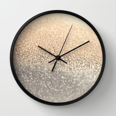 GATSBY GOLD Wall Clock by Monika Strigel - $30.00