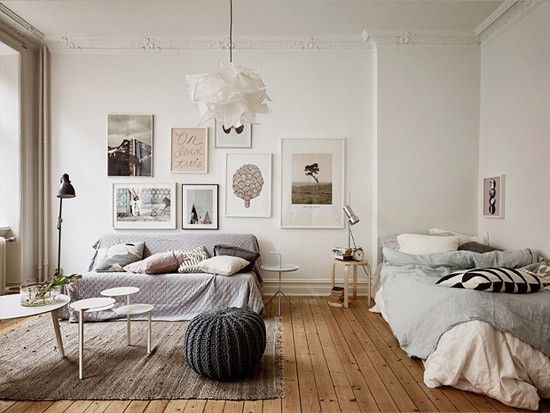 Gezellige woon/slaapkamer
