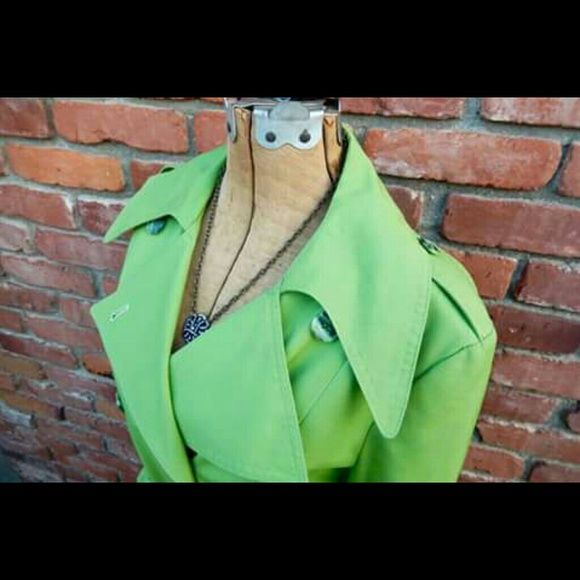 Debenhams  Jackets & Coats - Vintage Bright Green Trench Coat. $20.  Offers welcome:-)