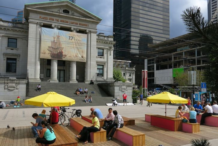 Checking out the iconic Vancouver Tourist Attractions on our World's Best Food Truck tour. Tickets and details: http://foodietours.ca/tour/worlds-best-food-truck-tour/