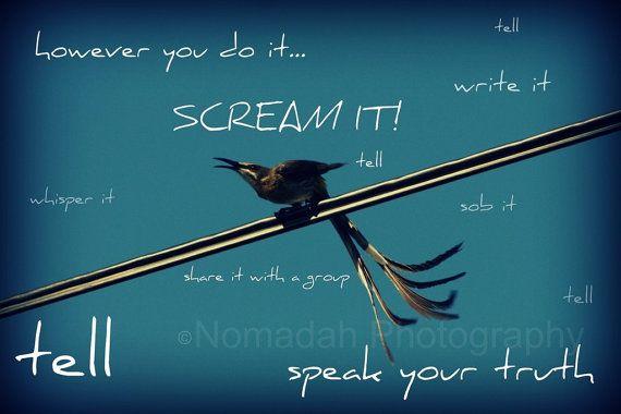 Speak your truth bird.  Tell it bird.