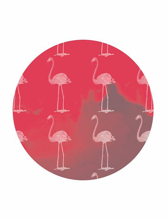 FLAMINGO PATTERN PRINT - Unframed  Hot pink, flamingos, bold. Do I need to say…