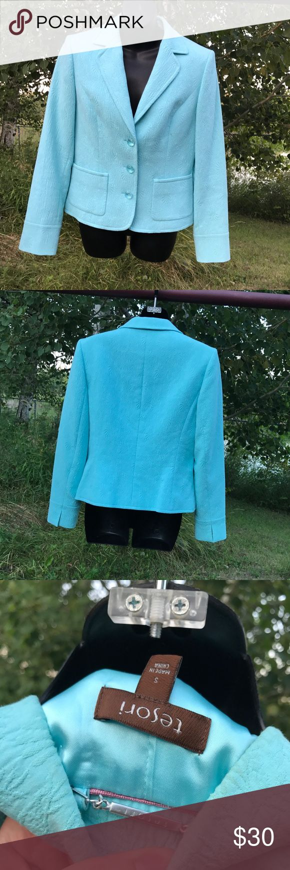 Light Blue Blazer Light blue Blazer Tesori Jackets & Coats Blazers