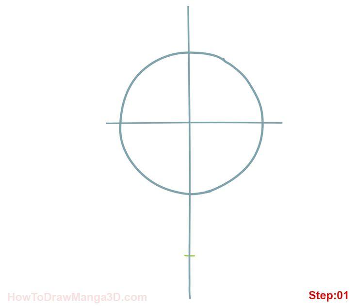 How to draw Naruto Uzamaki step 01