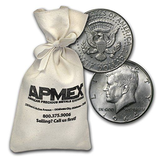 1964 Silver Kennedy Half-Dollars $100 Face-Value Bag (1964) Half Dollar Very Good * Learn more by visiting the image link.