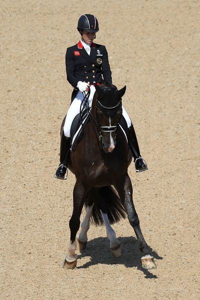 Charlotte Dujardin of Great Britain riding Valegro competes in the Dressage Individual Grand Prix Freestyle on Day 10 of the Rio 2016 Olympic Games at Olympic Equestrian Centre on August 15, 2016 in Rio de Janeiro, Brazil.
