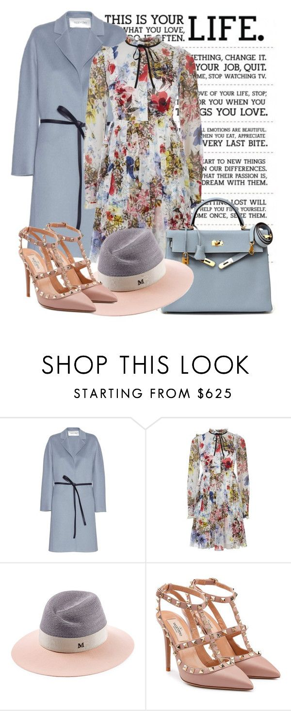 SPRING  by daniela2205 on Polyvore featuring мода, Erdem, Valentino, Maison Michel and Hermès