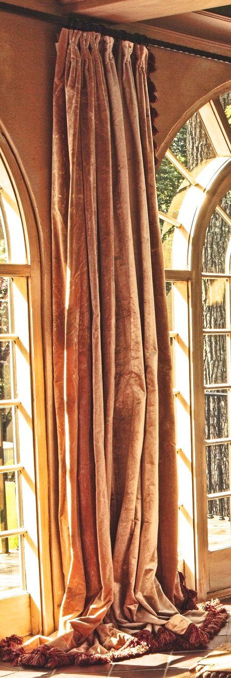 Plush velvet drapes