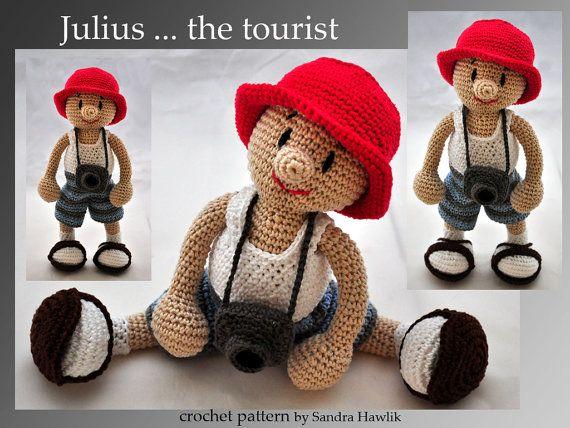 4895 best howwhat to crochetknit images on pinterest crochet crochet pattern amigurumi tourist pdf english or german fandeluxe Image collections