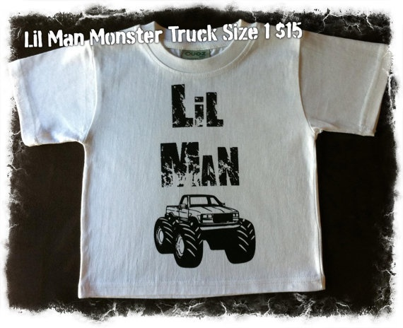 Lil Man Monster Truck Size 1 by LilManMissClothing on Etsy,