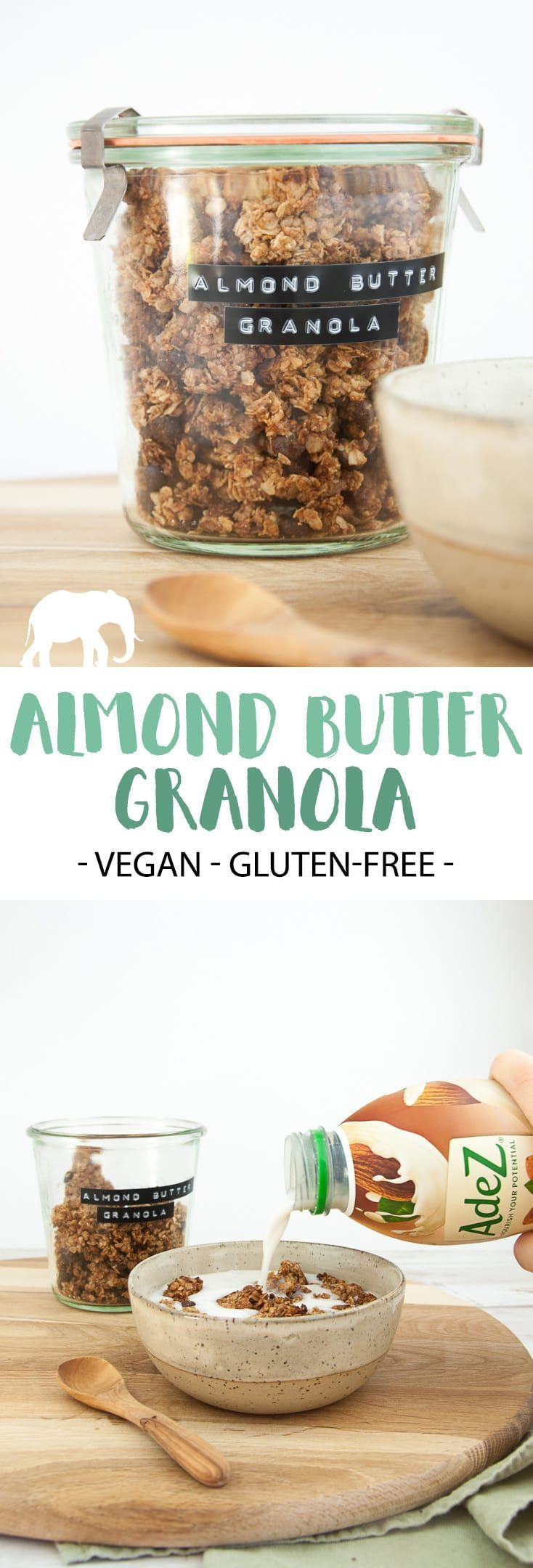 Almond Butter Granola (vegan & gluten-free) – easy to make & you'll only need 4 …