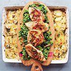 Jamie Oliver: kipfilet met gesmoorde groenten en aardappelgratin