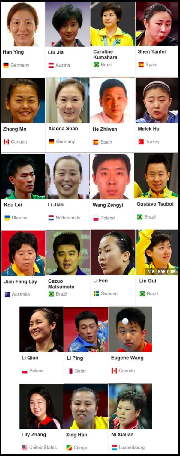 Crazy diversity at Olympic Table Tennis - Rio 2016