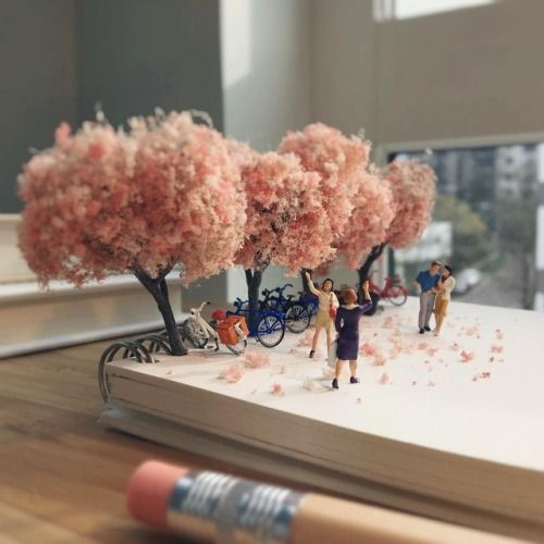 Bite Sized Scenes Ingeniously Use Office Supplies Photographer Derrick Lin glorifies the mundane day to day moments of agency life, an artist who takes great delight in observing miniature moments...