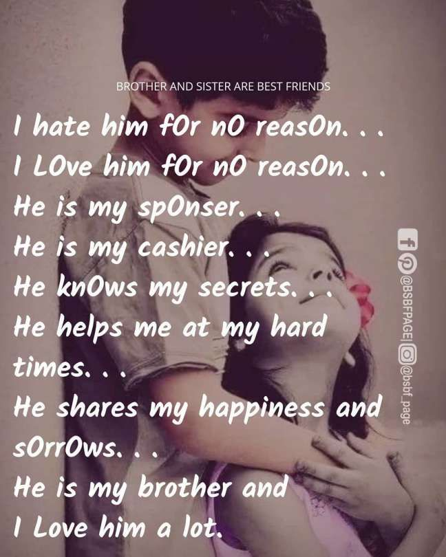 Quotes For Brothers From Sister Sister Love Quotes Best Brother Quotes Brother Quotes
