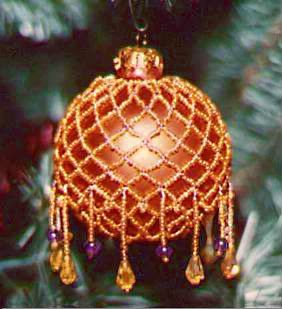 Victorian Beaded Christmas ornament