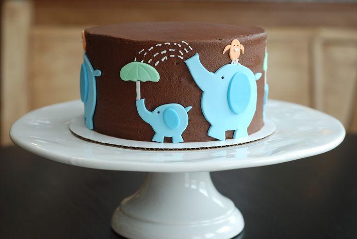Baby Showers {Elephant Baby Shower Cake} | A Little Something Sweet - Custom Cakes