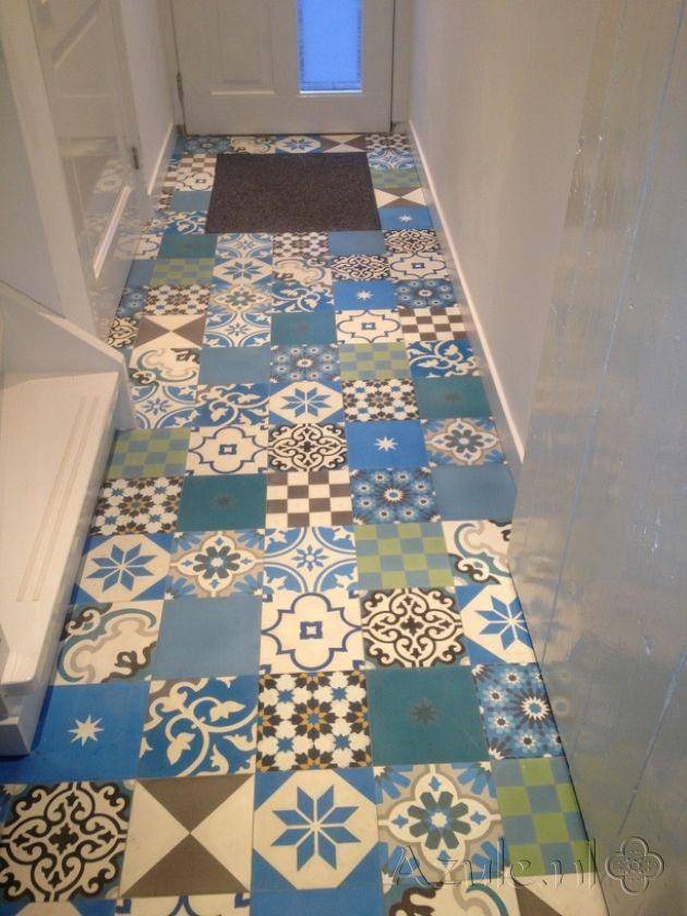 Cement tiles hall patchwork project van designtegels for Tiles images for hall