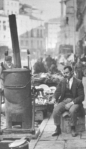 Antigua foto de C. Estornes) de la calle Toledo de tostador de café MADRID
