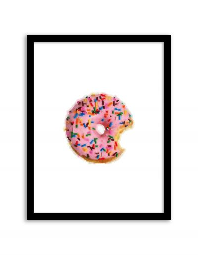 Free Printable Donut Watercolor Art from @chicfetti - easy wall art diy
