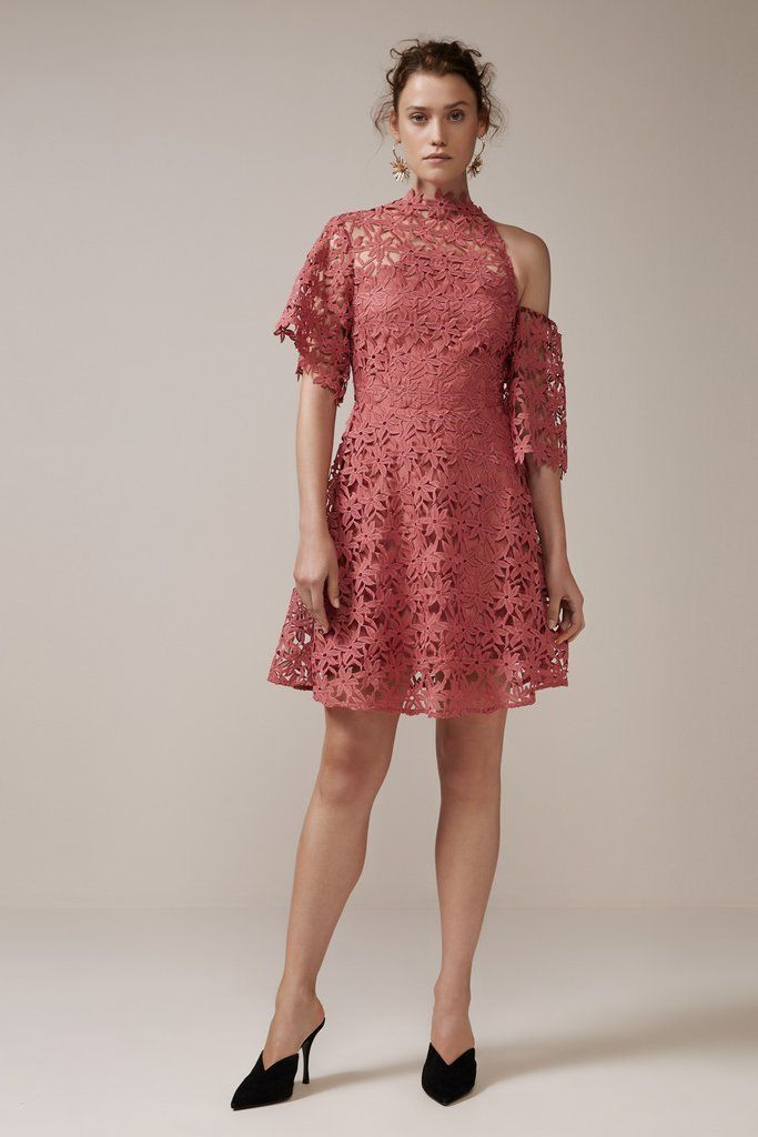 Keepsake - Stay Close Lace Mini Dress - Paprika